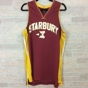 Starbury Men's Basketball Jersey Rust Yellow 3
